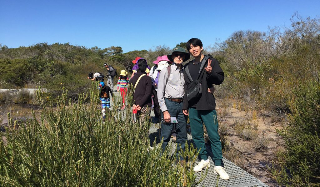 Ron Gornall with bushwalk group North Head Manly