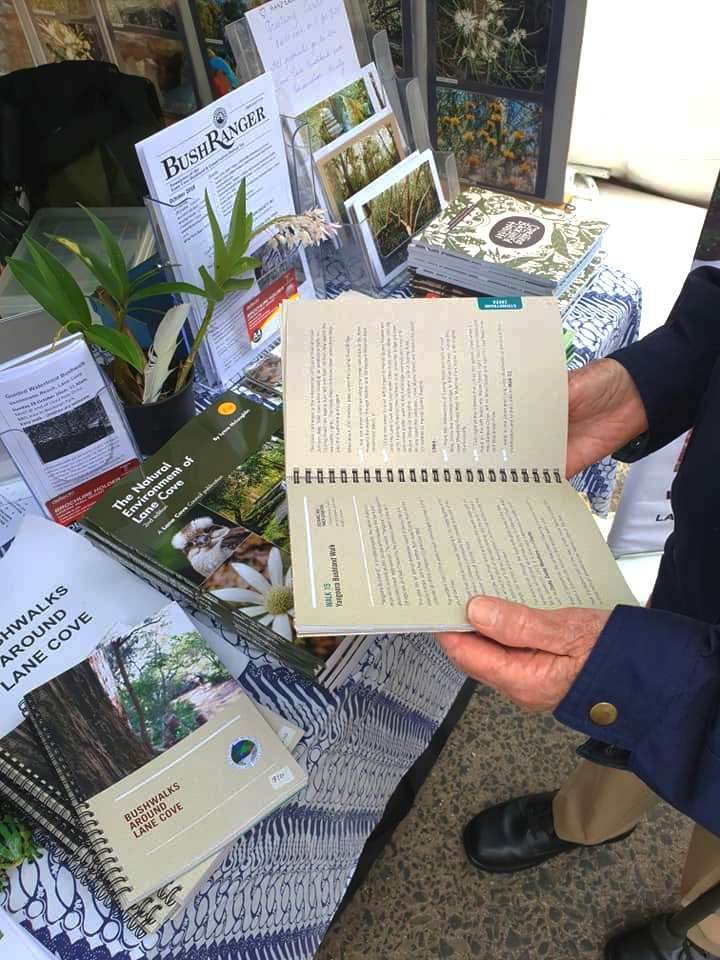 Books available at the Lane Cove Bushland Society plant stalls