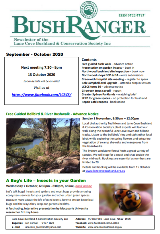 Bushranger Newsletter October 2020