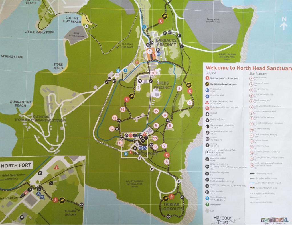 North Head Sanctuary map